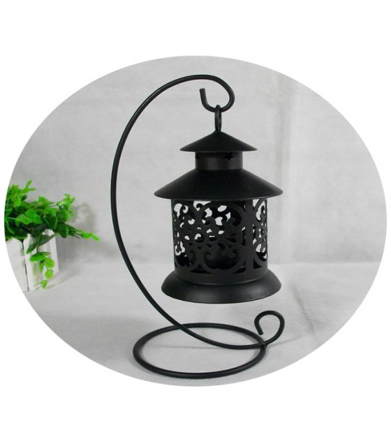 HD053 - European Style Iron Hollow Candlestick Candle Holder