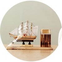 HD102 - Decorative Ship Ornament