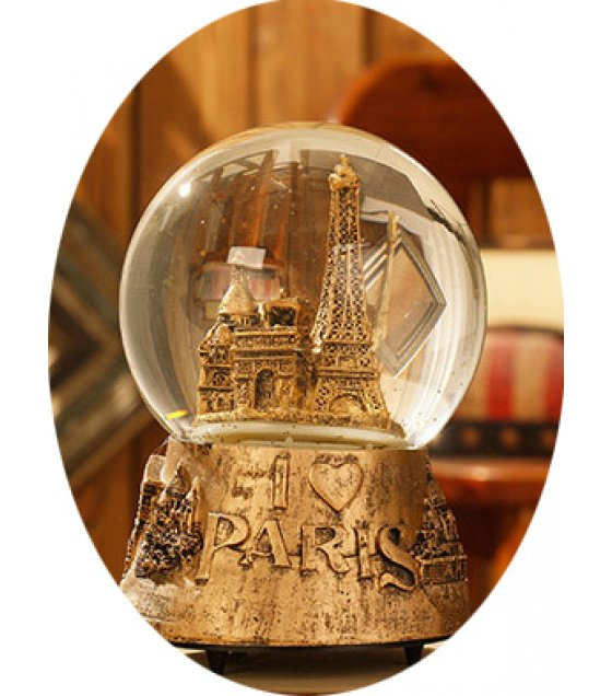 HD103 - European retro gold Crystal Music Ball
