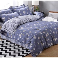HD141 - Small Daisy Luxury High Quality 4pcs Queen Bedding Set