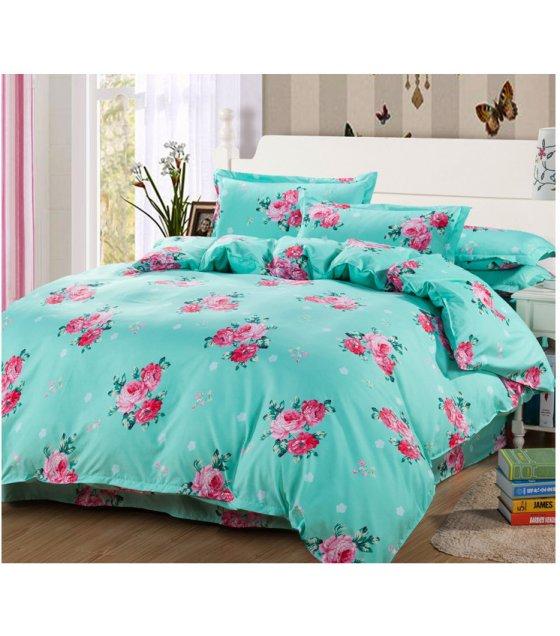 HD145 - Floral Luxury High Quality 4pcs Queen Bedding Set