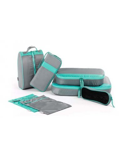 HD166 - 7Pcs Set Outdoor Camping Travel Luggage Organizer