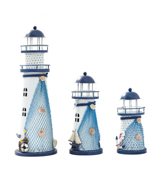 HD188 - Color Changing Openwork Ocean Lighthouse Lamp