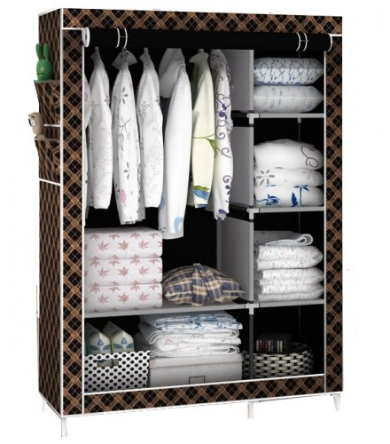 HD218 -  Fabric Collapsible Fold-able Clothes Wardrobe