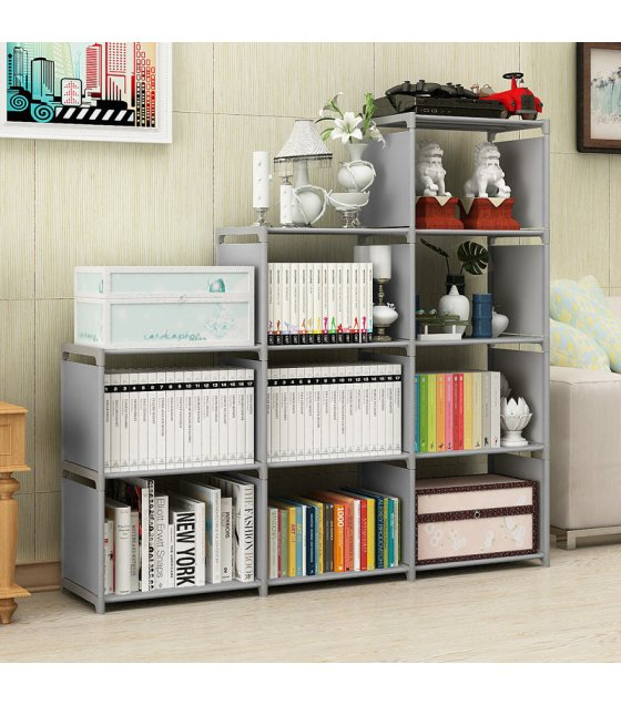 HD222 - High Quality 9-cube DIY Book Shelf