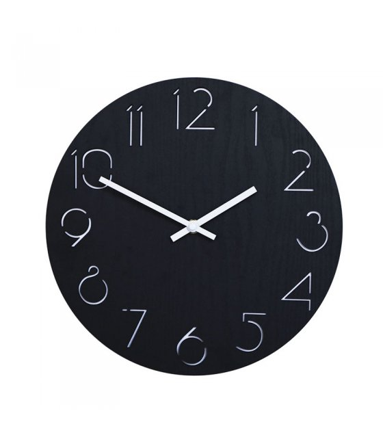 HD313 - Round Wooden Digital Large Decorative Wall Clock