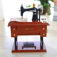 HD360 - Vintage Music Box Mini Sewing Machine