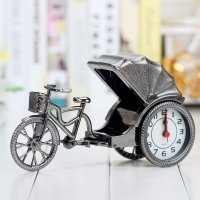 HD363 - Creative Vintage Rickshaw Model Alarm Clock