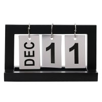 HD369 - Rotating Wooden Desk Calendar