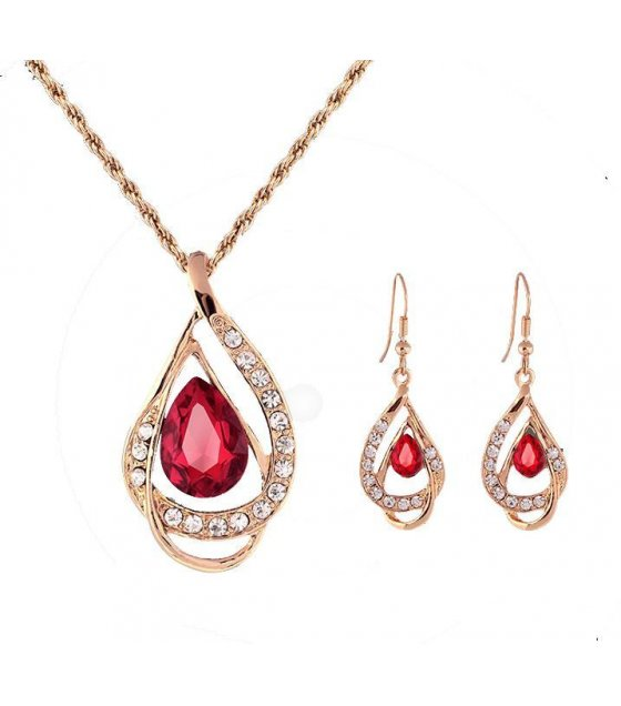 SET106 - Red Natural Stone jewelry Set