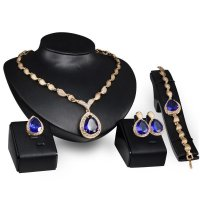 SET143 - Luxury Blue Wedding Jewelry Set
