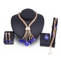 SET406 - Gold-plated bride jewelry Set