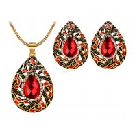 SET407 - Retro style diamond luxury atmosphere necklace Set