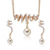 SET433 - Korean temperament pearl earrings