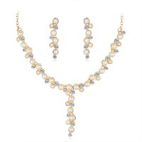 SET456 - Simple temperament pearl necklace set