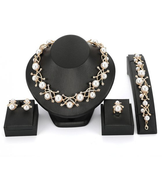 SET465 - Bridal Pearl Jewellery Set