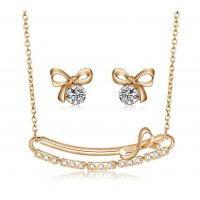 SET466 - Bow Necklace Set