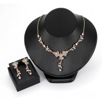SET467 - Gemstone Floral Jewellery Set