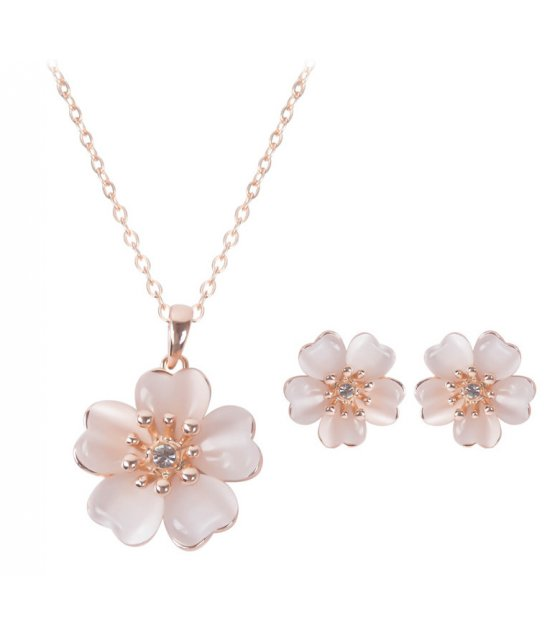 SET472 - Small fresh flower necklace earrings