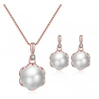 SET488 - Pearl flower Jewellery Set