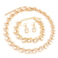 SET491 - Bridal Pearl Necklace Set