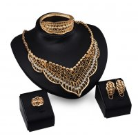 SET501 - Hollow Carved four piece Jewellery Set