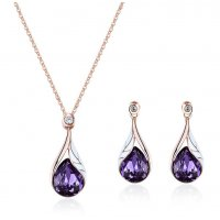 SET521 - Drop Shaped Necklace Set