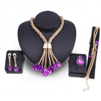 SET531 - Gold-plated gemstone Jewellery Set