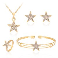 SET549 - Simple fashion cute star jewelry set
