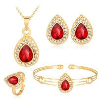 SET550 - Water drop gemstone Jewellery Set