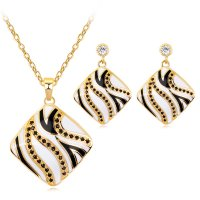 SET552 - Zebra Pattern Jewellery Set