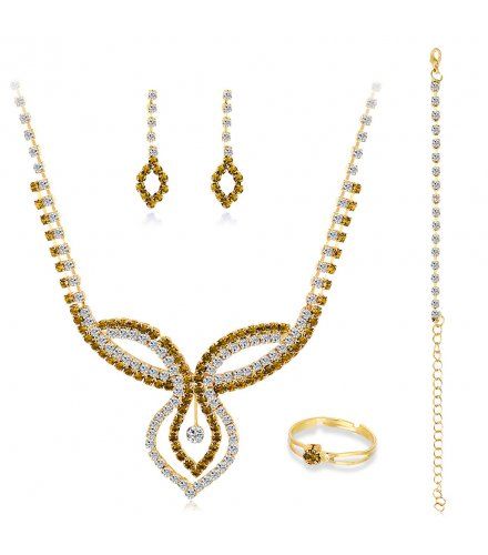 SET563 - Four-piece Crystal Jewellery Set