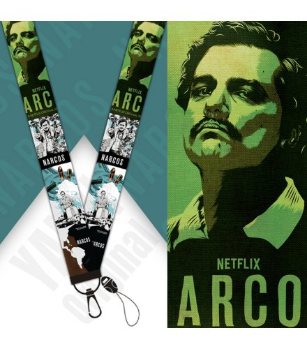 KT004 - Narcos mobile phone lanyard Keychain