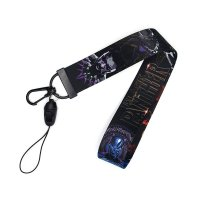 KT008 - Black Panther Mobile Phone Lanyard Keychain