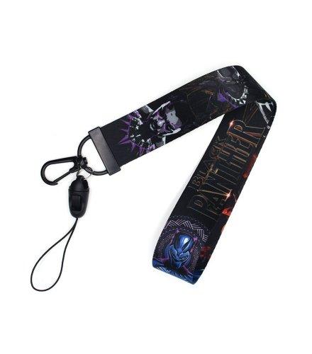KT008 - Black Panther Mobile Phone Lanyard Keychain