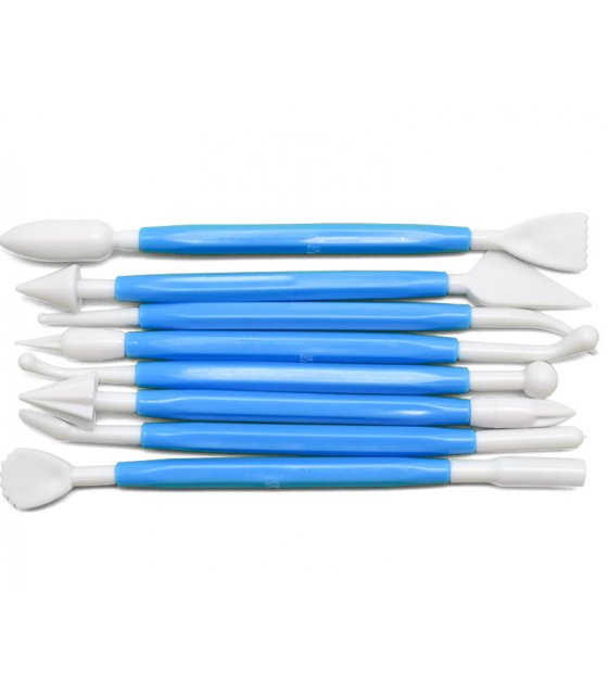 KW012 - 8pcs Cake Fondant  Decorating Modeling Tools Set