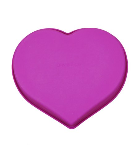 KW019 - Silicone single big heart love cake mold