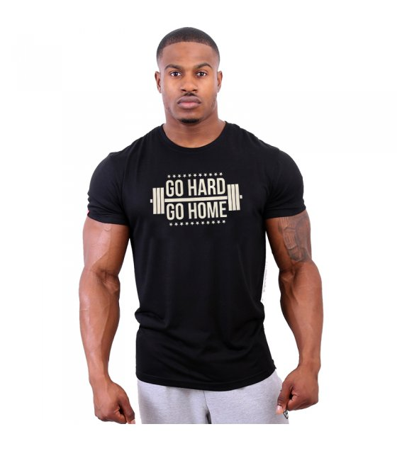 MR043 - GO HARD GO HOME Gym T shirt