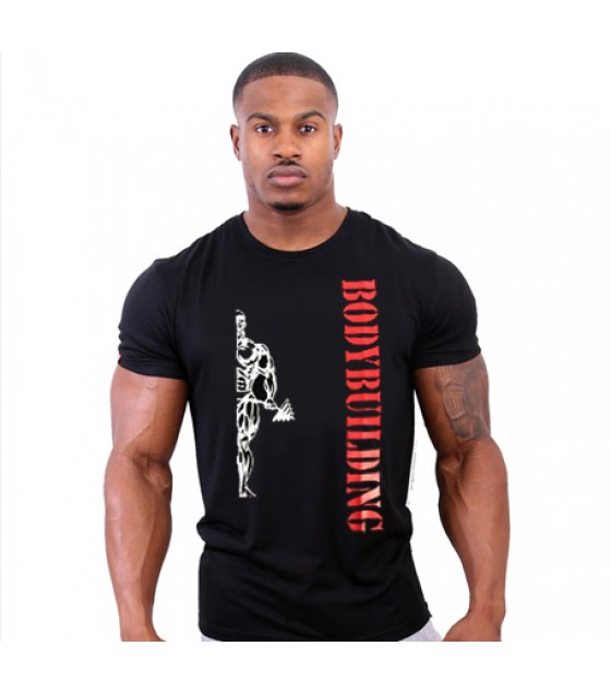 MR029 - Bodybuilding Black Tshirt