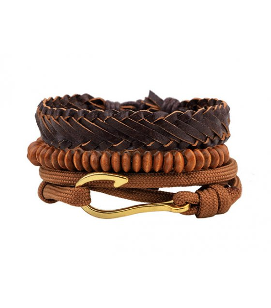 MJ020 - Leather handmade bracelet