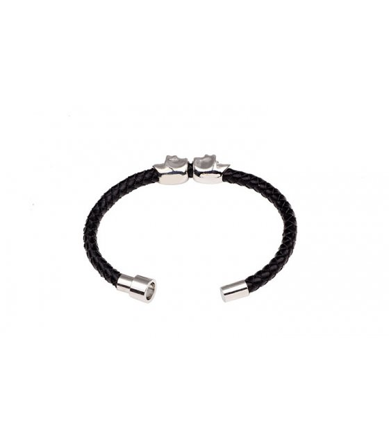 MJ025 - Skull braided magnetic buckle bracelet