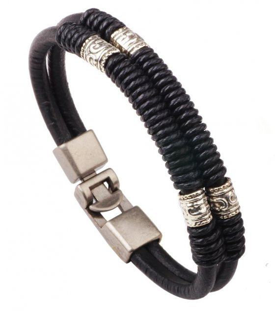 MJ029 - Hand-wrapped multi-level bracelet