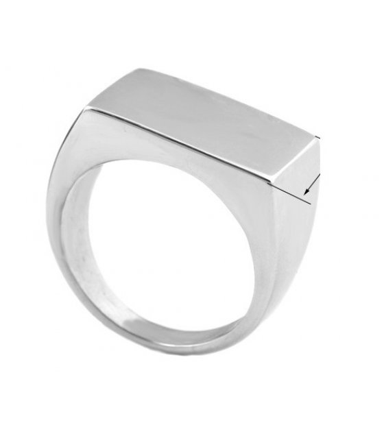 MJ054 - Korean fashion simple titanium steel men's ring