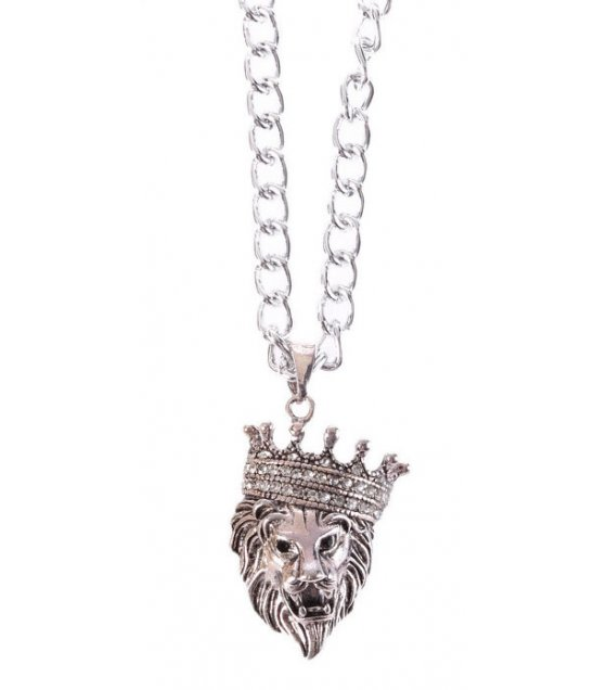 MJ118 - Crown Lion Men's Necklace