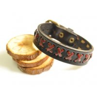 MJ130 - Woven leather Men's bracelet