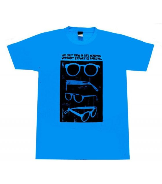 MC080 - Blue Sun glass Printed Casual Tshirt