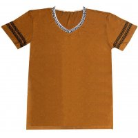 MC100M - Brown Causal mens Tshirt