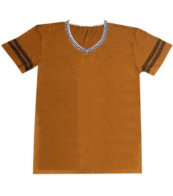 MC100L - Brown Causal mens Tshirt