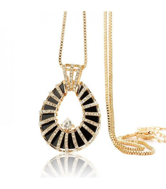 N1030 - Fashion teardrop-shaped diamond sweater chain