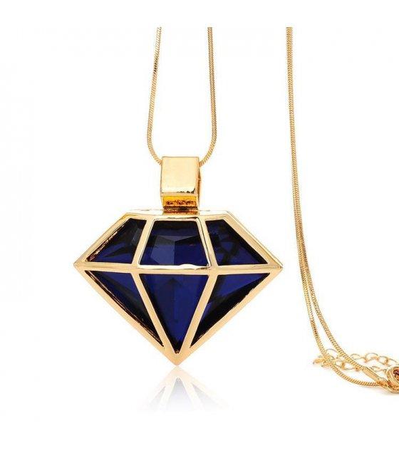 N1034 - Fashion diamond shape crystal sweater chain